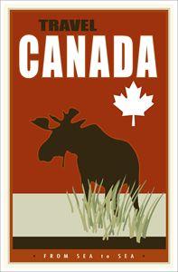 Canada - Vintage Travel by Kevin Brown Studio