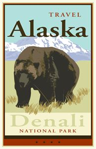 Travel Alaska - Vintage Travel by Kevin Brown Studio