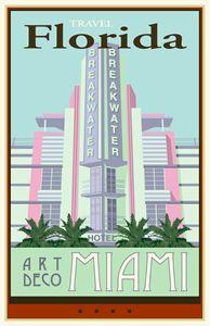 Travel Florida - Vintage Travel by Kevin Brown Studio