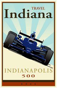 Travel Indiana - Vintage Travel by Kevin Brown Studio