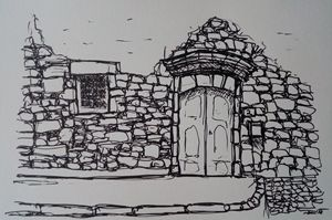 Ink Drawing - rudebird