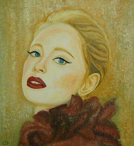 A portrait of cabaret dancer