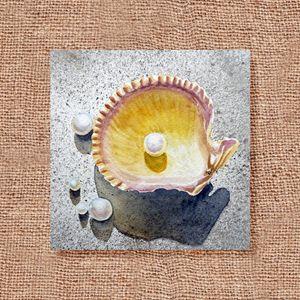 Seashell And Pearl Art Collage III