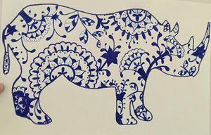 Henna the world- Rhino