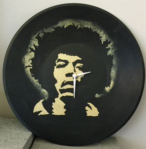 Vinyl Jimi Hendrix clock