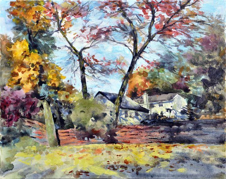 backyard - GXL's paintings