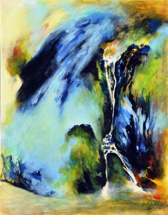 waterfall(1) - GXL's paintings