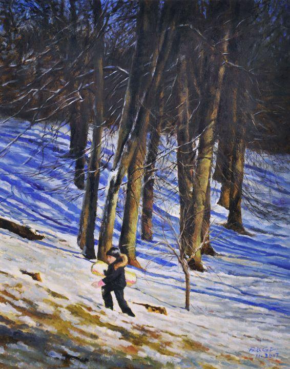 Go skiing - GXL's paintings