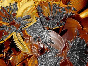 ALBERT DANNENMANN'S CHROME FLORAL - GILES ARTS