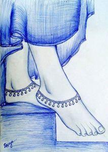 Beautiful Indian girl Foot