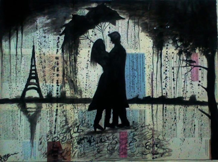 Rainy day Love - Surya art