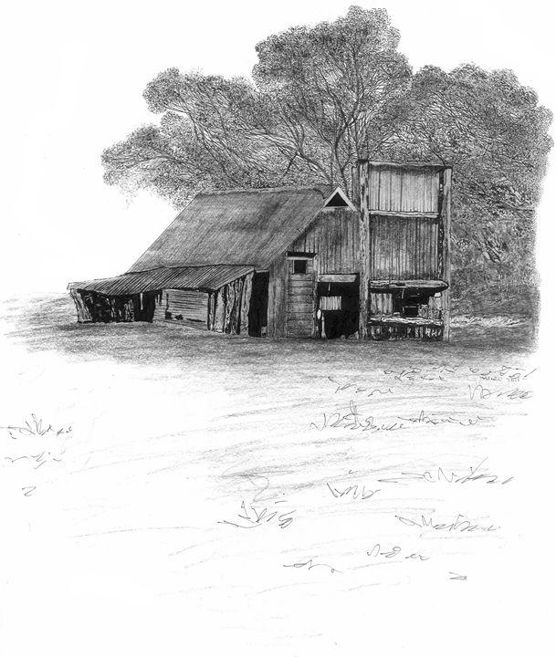 Farm Drawing Modren Old Building Karu Design With