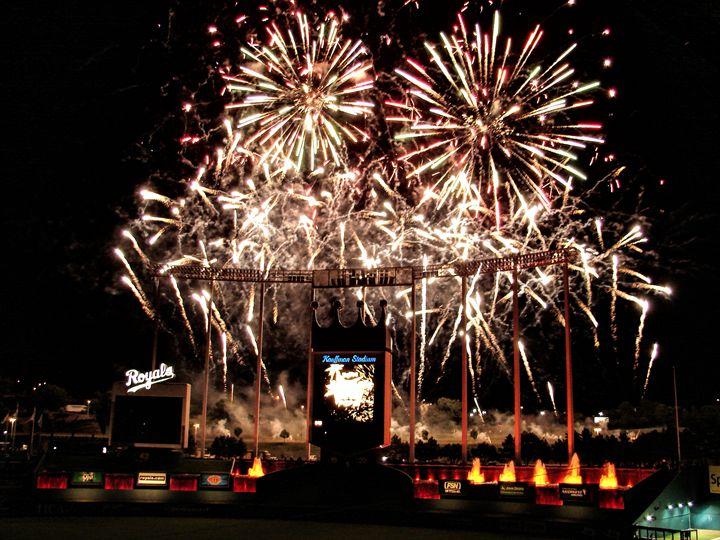 Fireworks at Kauffman Stadium - Ad Astra Images
