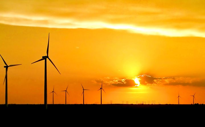 Wind Farm at Sunset - Ad Astra Images