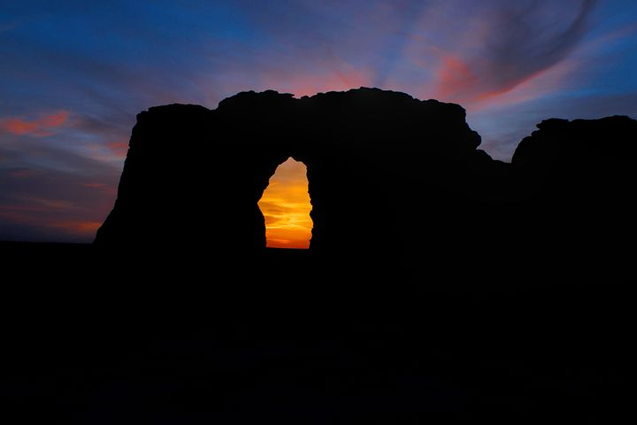 Sunset Through the Keyhole - Ad Astra Images