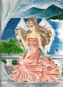 Angel on the veranda
