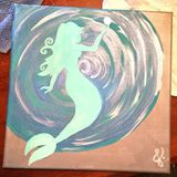 12x12in canvas painting