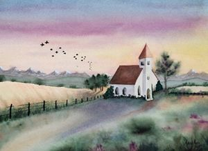 Little church in the morning