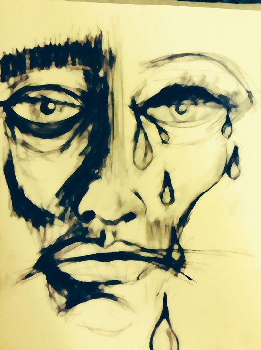 Crying man - MegP LBC