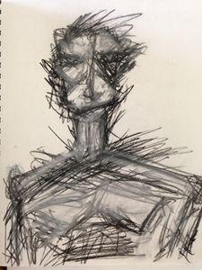 Man scribble