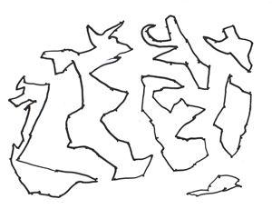 Dot World map art 1