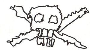 Skull and Bone dot Abstract