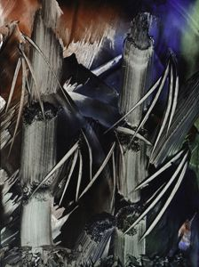 Bamboo Abstract in Encaustics