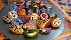 Painted stones X 12