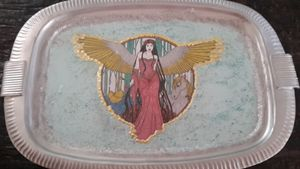 Silver Angel Tray