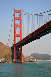 """Underneath the Golden Gate Bridge"""