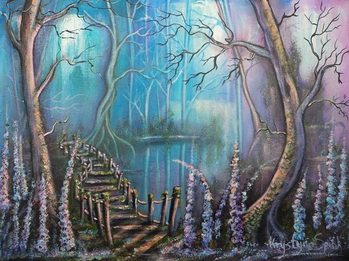 Waterfall Valley - Krystyna Spink