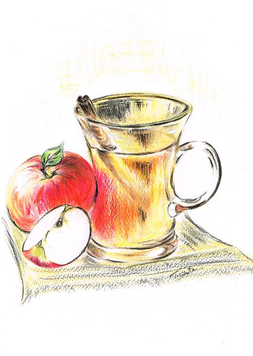 Hot Apple Cider - Teresa white Delightful Art
