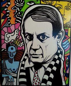 pablo picasso pop-art original paint