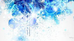 Winter Frost Blue Christmas Pine Fir