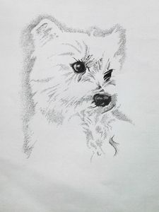 Westie Girl - Angel Art