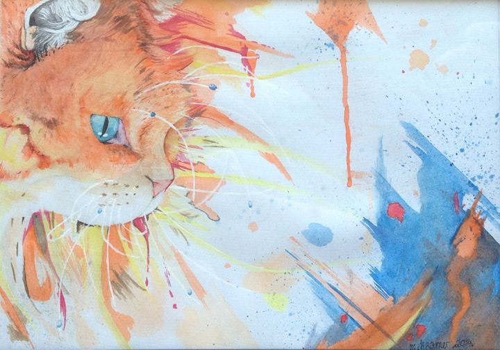Magestic Cat Alert and Ready to Hunt - Maria Kramer Artistic Designs