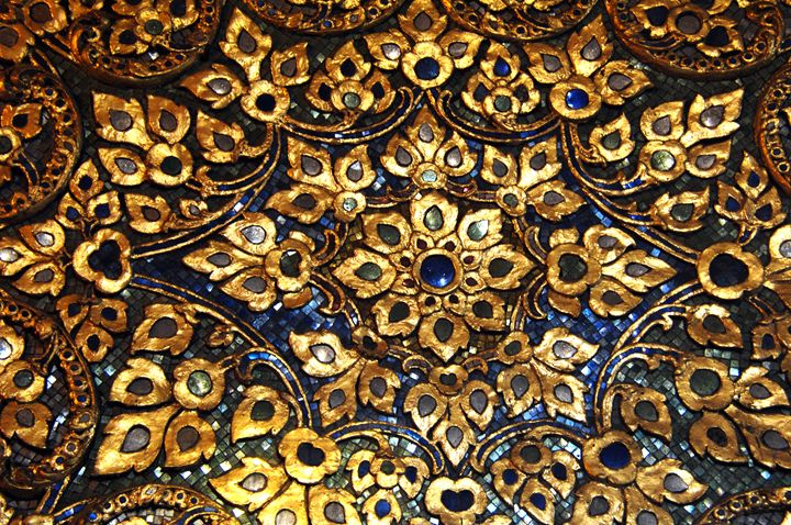mosiac of gold and  precious stones - james p connor