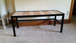 Steel bench with Oak boards