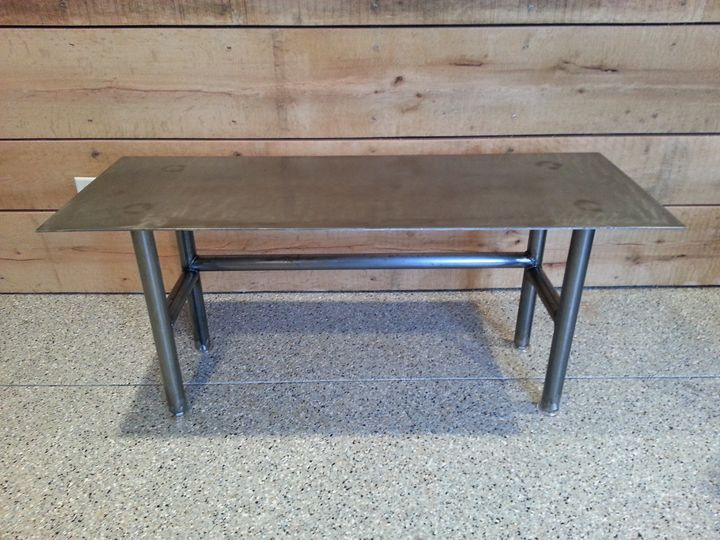 All Steel Recycled Coffee Table - Campbell Custom