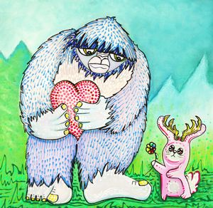 The Bigfoot and The Jackalope - Laura Barbosa Art