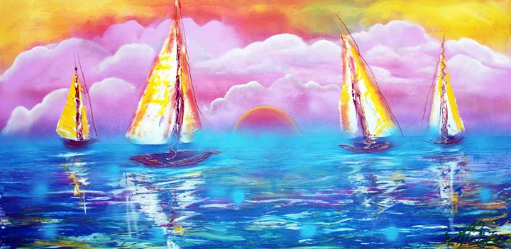 Cotton Candy Cove - Laura Barbosa Art