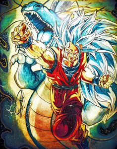 Goku SSGSS 3 Dragon fist