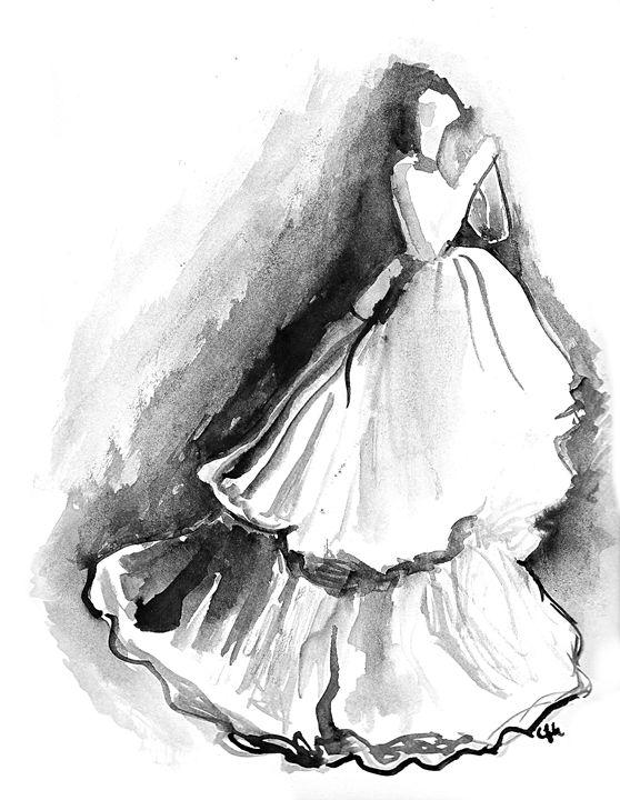 Lady in white - C.Hill Fine Art