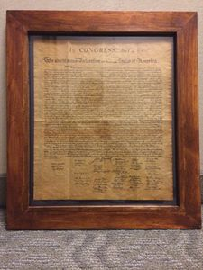Framed Declaration of Indendence
