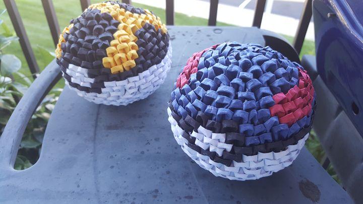 Module Origami Pokémon Ball - SamTheJam