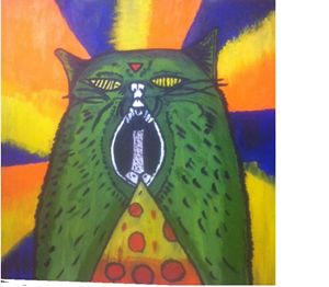 Psychadelic cat - SOLD OUT