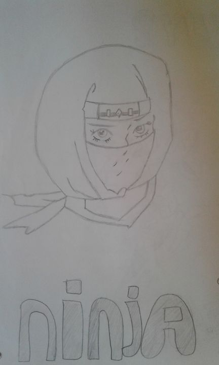Lady Ninja - My Favorite Cartoon Drawings