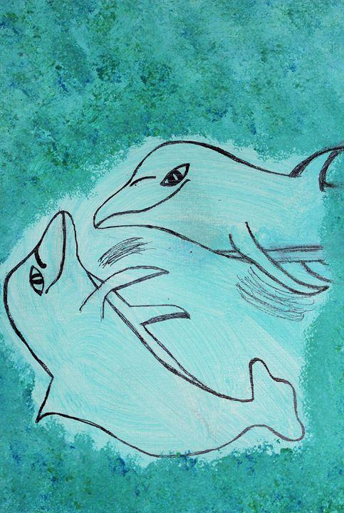 Playful Dolphins 2 - Connie Ann LaPointe