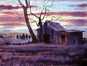 Eagleville Sunset - Jeff Atnip Art
