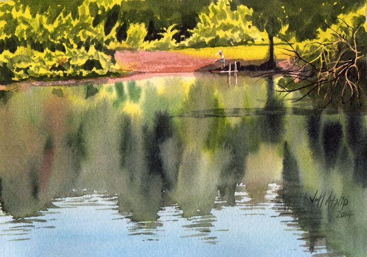 The Fishing Pond - Jeff Atnip Art